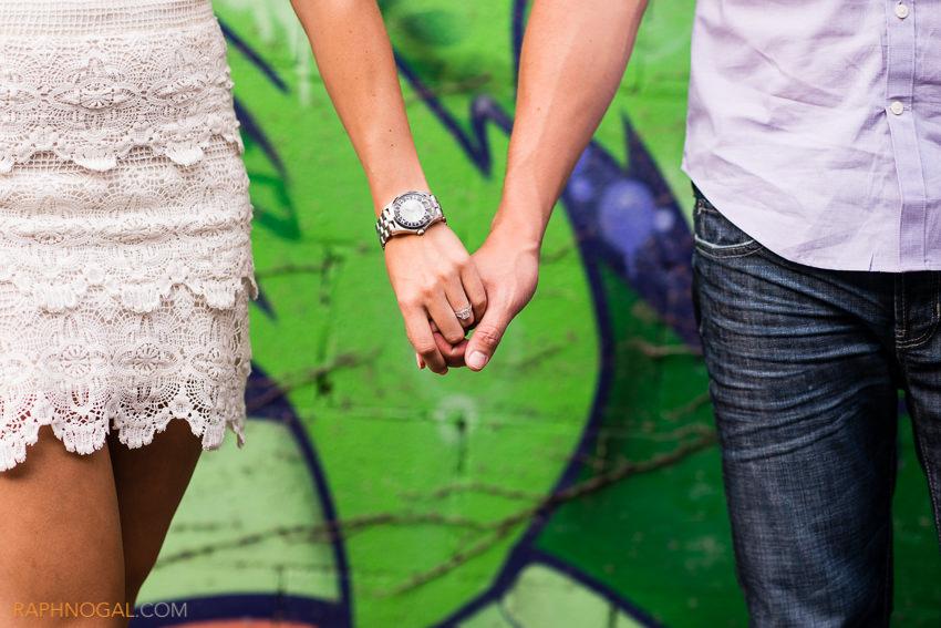 water balloon fight engagement photos graffiti alley-2