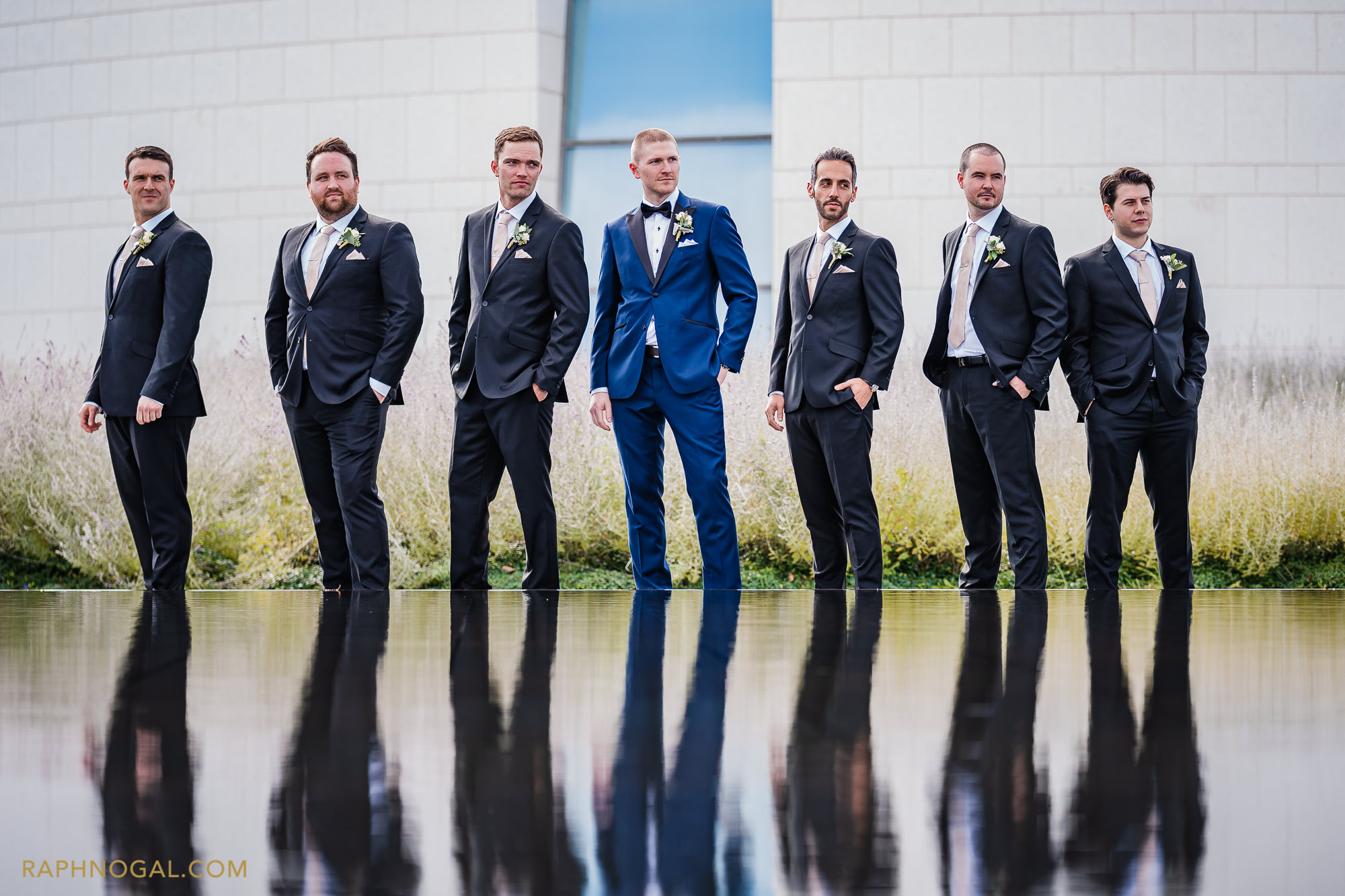 Groom and Groomsmen looking sharp at Aga Khan Museum